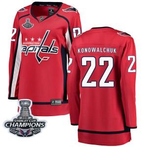 Washington Capitals Steve Konowalchuk Official Red Fanatics Branded Breakaway Women's Home 2018 Stanley Cup Champions Patch NHL