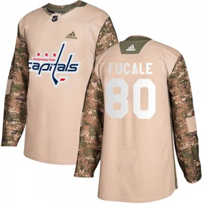 Washington Capitals Zach Fucale Official Camo Adidas Authentic Adult Veterans Day Practice NHL Hockey Jersey