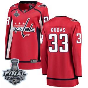 Washington Capitals Radko Gudas Official Red Fanatics Branded Breakaway Women's Home 2018 Stanley Cup Final Patch NHL Hockey Jer