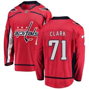 Washington Capitals Kody Clark Official Red Fanatics Branded Breakaway Adult Home NHL Hockey Jersey