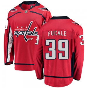 Washington Capitals Zach Fucale Official Red Fanatics Branded Breakaway Adult Home NHL Hockey Jersey