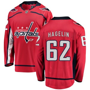Washington Capitals Carl Hagelin Official Red Fanatics Branded Breakaway Adult Home NHL Hockey Jersey