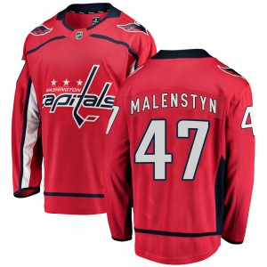 Washington Capitals Beck Malenstyn Official Red Fanatics Branded Breakaway Adult ized Home NHL Hockey Jersey