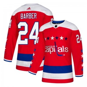 Washington Capitals Riley Barber Official Red Adidas Authentic Youth Alternate NHL Hockey Jersey