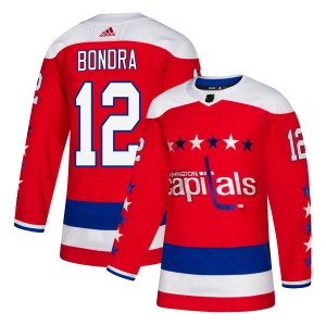 Washington Capitals Peter Bondra Official Red Adidas Authentic Youth Alternate NHL Hockey Jersey
