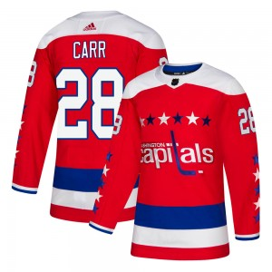 Washington Capitals Daniel Carr Official Red Adidas Authentic Youth Alternate NHL Hockey Jersey