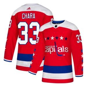 Washington Capitals Zdeno Chara Official Red Adidas Authentic Youth Alternate NHL Hockey Jersey