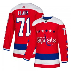 Washington Capitals Kody Clark Official Red Adidas Authentic Youth Alternate NHL Hockey Jersey