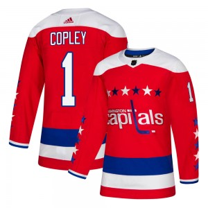 Washington Capitals Pheonix Copley Official Red Adidas Authentic Youth Alternate NHL Hockey Jersey