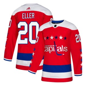 Washington Capitals Lars Eller Official Red Adidas Authentic Youth Alternate NHL Hockey Jersey