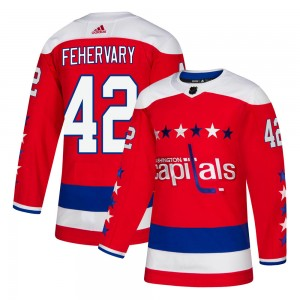 Washington Capitals Martin Fehervary Official Red Adidas Authentic Youth Alternate NHL Hockey Jersey
