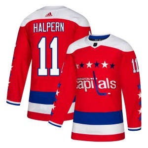Washington Capitals Jeff Halpern Official Red Adidas Authentic Youth Alternate NHL Hockey Jersey