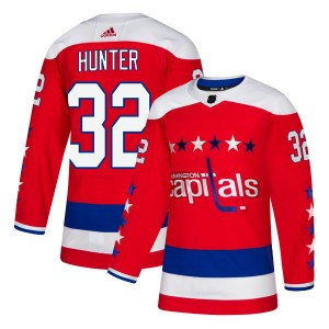 Washington Capitals Dale Hunter Official Red Adidas Authentic Youth Alternate NHL Hockey Jersey