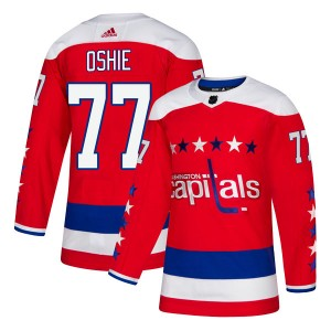 Washington Capitals T.J. Oshie Official Red Adidas Authentic Youth Alternate NHL Hockey Jersey
