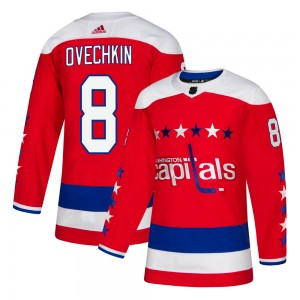 Washington Capitals Alexander Ovechkin Official Red Adidas Authentic Youth Alternate NHL Hockey Jersey