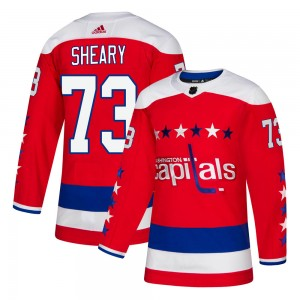 Washington Capitals Conor Sheary Official Red Adidas Authentic Youth Alternate NHL Hockey Jersey