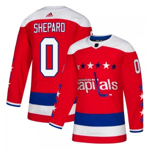 Washington Capitals Hunter Shepard Official Red Adidas Authentic Youth Alternate NHL Hockey Jersey