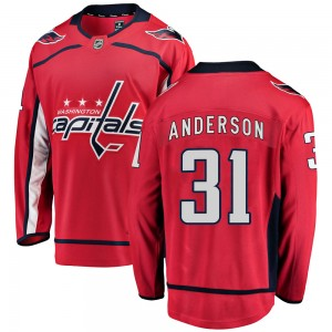 Washington Capitals Craig Anderson Official Red Fanatics Branded Breakaway Youth Home NHL Hockey Jersey