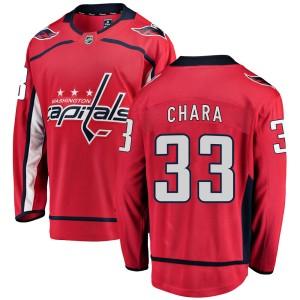 Washington Capitals Zdeno Chara Official Red Fanatics Branded Breakaway Youth Home NHL Hockey Jersey