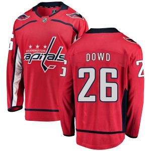 Washington Capitals Nic Dowd Official Red Fanatics Branded Breakaway Youth Home NHL Hockey Jersey