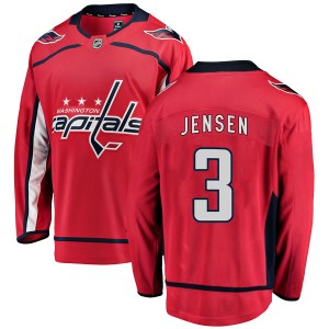 Washington Capitals Nick Jensen Official Red Fanatics Branded Breakaway Youth Home NHL Hockey Jersey