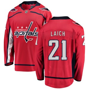 Washington Capitals Brooks Laich Official Red Fanatics Branded Breakaway Youth Home NHL Hockey Jersey