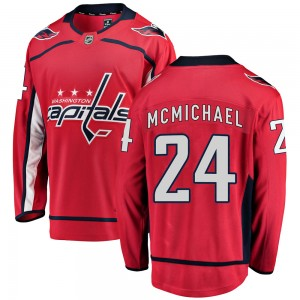 Washington Capitals Connor McMichael Official Red Fanatics Branded Breakaway Youth Home NHL Hockey Jersey