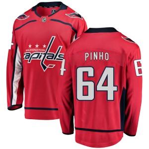 Washington Capitals Brian Pinho Official Red Fanatics Branded Breakaway Youth ized Home NHL Hockey Jersey