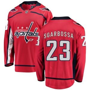 Washington Capitals Michael Sgarbossa Official Red Fanatics Branded Breakaway Youth Home NHL Hockey Jersey