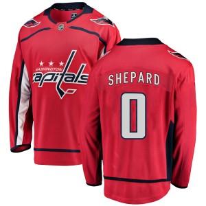 Washington Capitals Hunter Shepard Official Red Fanatics Branded Breakaway Youth Home NHL Hockey Jersey