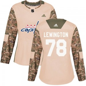 Washington Capitals Tyler Lewington Official Camo Adidas Authentic Women's ized Veterans Day Practice NHL Hockey Jersey