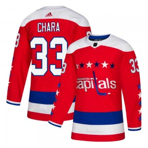 Washington Capitals Zdeno Chara Official Red Adidas Authentic Adult Alternate NHL Hockey Jersey