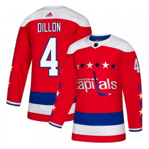 Washington Capitals Brenden Dillon Official Red Adidas Authentic Adult ized Alternate NHL Hockey Jersey