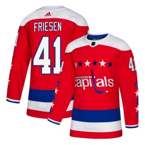 Washington Capitals Jeff Friesen Official Red Adidas Authentic Adult Alternate NHL Hockey Jersey