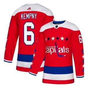 Washington Capitals Michal Kempny Official Red Adidas Authentic Adult Alternate NHL Hockey Jersey