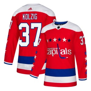 Washington Capitals Olaf Kolzig Official Red Adidas Authentic Adult Alternate NHL Hockey Jersey