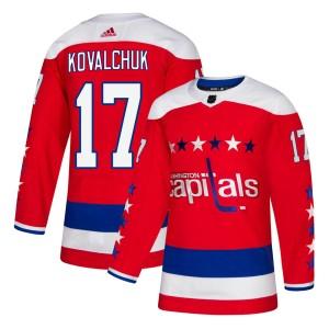 Washington Capitals Ilya Kovalchuk Official Red Adidas Authentic Adult ized Alternate NHL Hockey Jersey