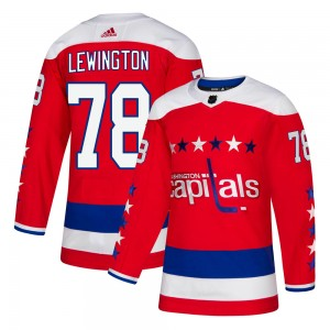 Washington Capitals Tyler Lewington Official Red Adidas Authentic Adult ized Alternate NHL Hockey Jersey