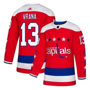 Washington Capitals Jakub Vrana Official Red Adidas Authentic Adult Alternate NHL Hockey Jersey