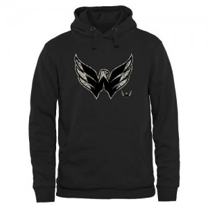 Washington Capitals Official Black Adult Rink Warrior Pullover Hoodie