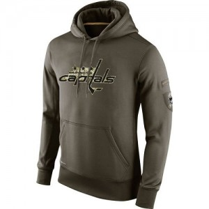 Washington Capitals Official Olive Nike Adult Salute To Service KO Performance Hoodie