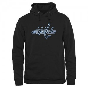 Washington Capitals Official Black Adult Rinkside Pond Hockey Pullover Hoodie -