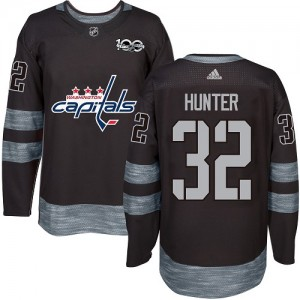 Washington Capitals Dale Hunter Official Black Adidas Authentic Adult 1917-2017 100th Anniversary NHL Hockey Jersey