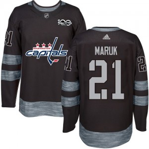 Washington Capitals Dennis Maruk Official Black Adidas Authentic Adult 1917-2017 100th Anniversary NHL Hockey Jersey
