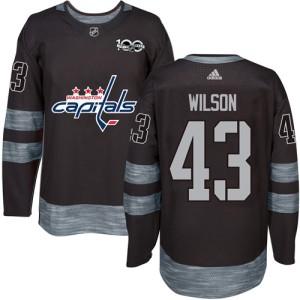 Washington Capitals Tom Wilson Official Black Adidas Authentic Adult 1917-2017 100th Anniversary NHL Hockey Jersey