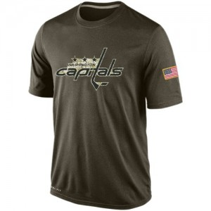 Washington Capitals Official Olive Nike Adult Salute To Service KO Performance Dri-FIT T-Shirt