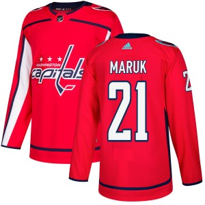 Washington Capitals Dennis Maruk Official Red Adidas Authentic Adult NHL Hockey Jersey