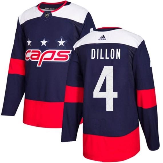 Washington Capitals Brenden Dillon Official Navy Blue Adidas Authentic Youth ized 2018 Stadium Series NHL Hockey Jersey