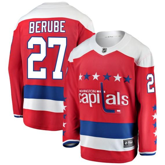 Washington Capitals Craig Berube Official Red Fanatics Branded Breakaway Adult Alternate NHL Hockey Jersey