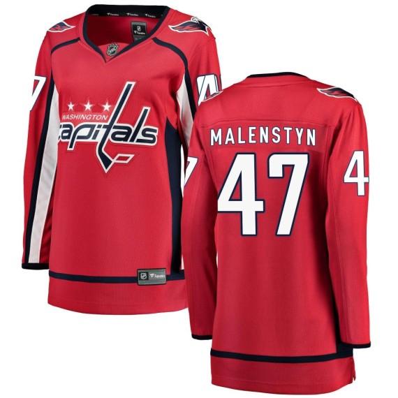 Washington Capitals Beck Malenstyn Official Red Fanatics Branded Breakaway Women's ized Home NHL Hockey Jersey